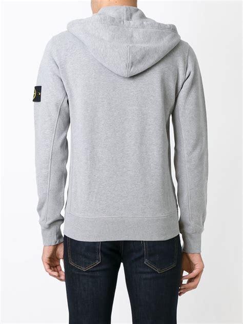 Hoodie Sidemen Grey Ken21 1 lyst island zipped hoodie in gray for