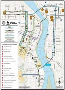 Portland Tram Map by Streetcar Route Map Portland Streetcar Oregon