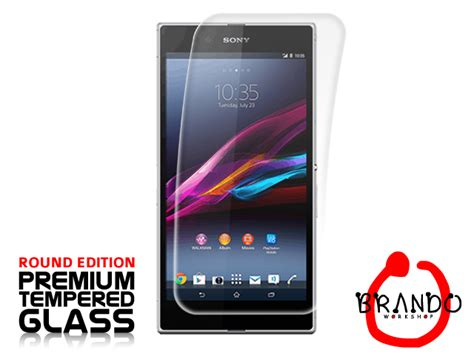 Tempered Glass Z Ultra brando workshop premium tempered glass protector rounded edition sony xperia z ultra
