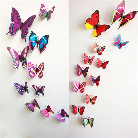 butterfly home decor diy 3d 12pc butterfly wall sticker home decor room