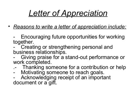 appreciation letter for business relationship ch 3 communication about disciplinary measures