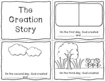 can do the story of the seabees books the creation story mini book freebie bible craft