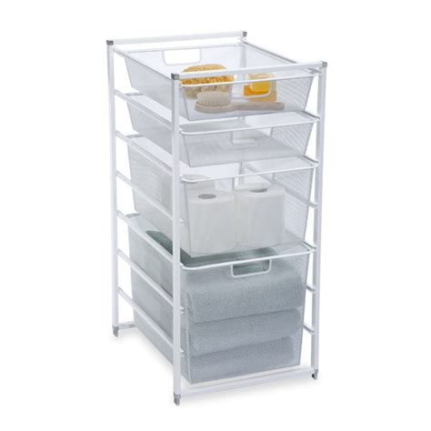 white cabinet sized elfa drawer frames the container store