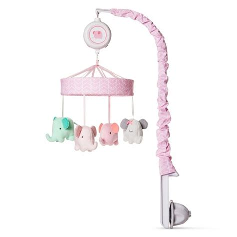 Crib With Mobile by Crib Mobile Elephant Parade Cloud Island Pink Target