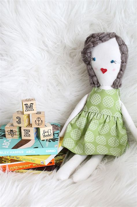 diy cute felt doll free sewing pattern and step by step traditional rag doll diy a beautiful mess