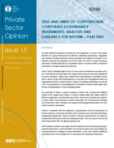 Corporate Governance Notes For Mba Pdf by Uses And Limits Of Conventional Corporate Governance