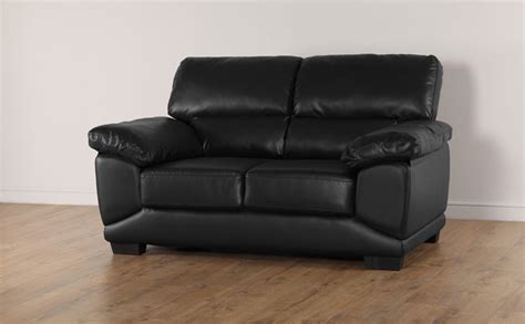 black 2 seater sofa oregon black leather 2 seater sofa only 163 349 99