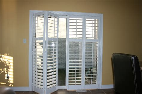 Patio Door Shutters Interior Wood Vinyl Shutters