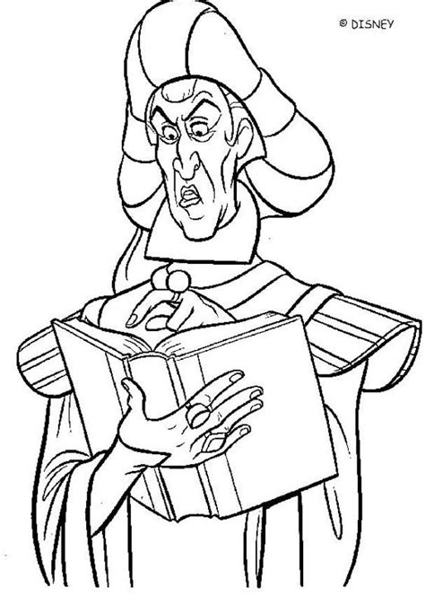disney coloring pages hunchback notre dame frollo 3 coloring pages hellokids com