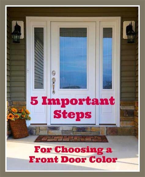 pick  color   front door  diy tips