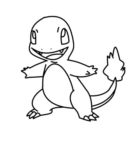 charmander coloring page az coloring pages