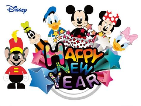 new year 2015 characters greetings pics for gt happy new year 2015 mickey mouse