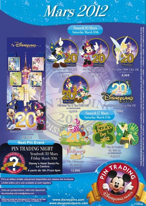 Disneyland Paris Pin Releases March 2012 Dlrpblog Disney Flyer Template