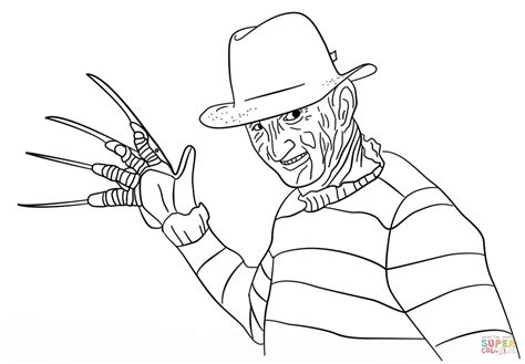 freddy krueger coloring page  printable coloring pages