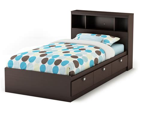 twin size bed with storage twin bed frame with storage decofurnish