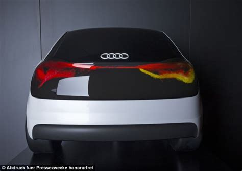 Car Lighting Technology Audi S Swarm Lights Oled Technology Reacts To The