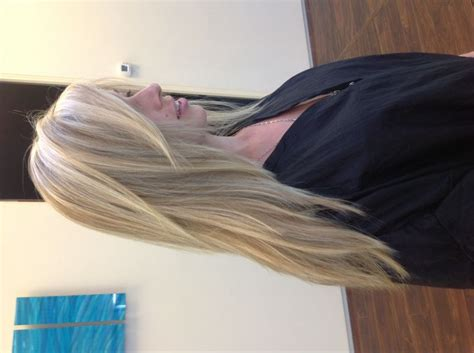 beauty of pattern matching pattern matching highlights with a long layered haircut by