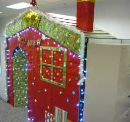 christmas cubicle office decorations