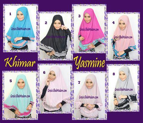 Kerudung Instan Yasmin Hoodie jilbab khimar cantik yasmine series grosir jilbab modern