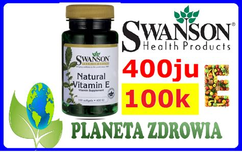 Planet K Detox by Witamina E Naturalna 400ju Detox Młdość Swanson
