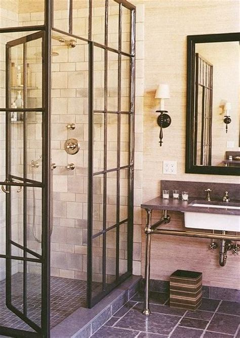 industrial shower door love this shower awesome one of these days