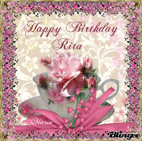 Cake Decoration At Home by Happy Birthday Rita Picture 95789892 Blingee Com