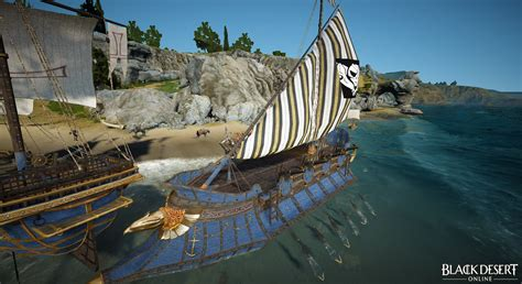 black desert online fishing boat accessories blue tier ship parts black desert online