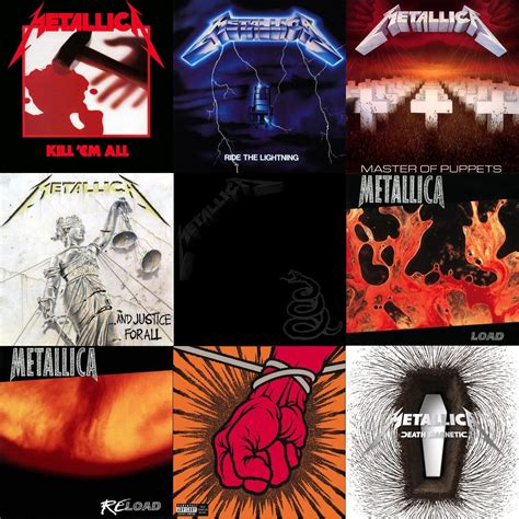 Studio Covers by Ranked Metallica S Studio Albums From Worst To Best