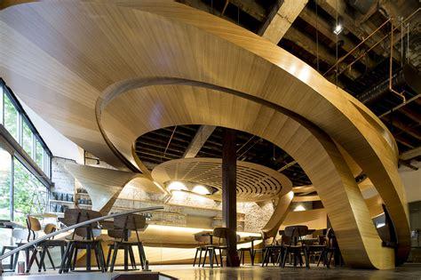 lot cafe interior architect magazine wood