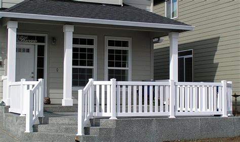 Vinyl front porch railing from pioneer fence deck amp supply co in vancouver wa 98686