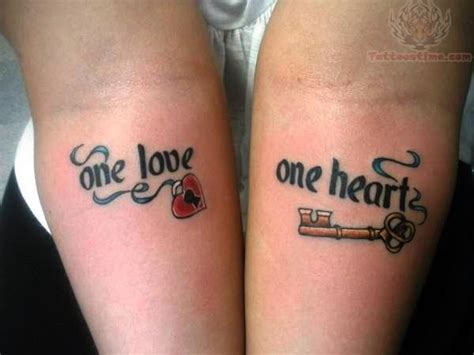 images of tattoos for couples one one lock key for couples tattoomagz