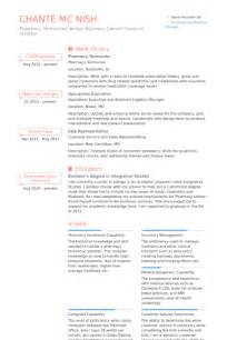 pharmacy technician resume sles visualcv resume