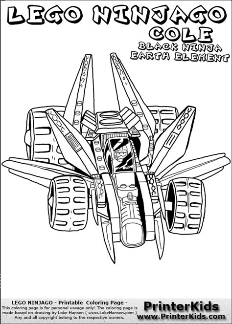 Ninjago Vehicles Coloring Pages | ninjago earth dragon coloring pages coloring page