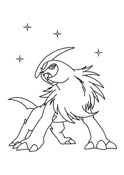 pokemon johto coloring pages coloriage pokemon absol hugolescargot com