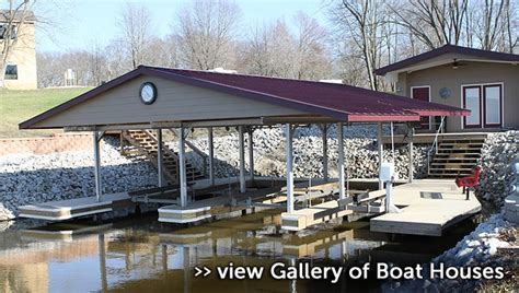 how to build a boat dock roof boat houses b r construction