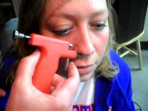 fail peircing terri s nose with a gun youtube