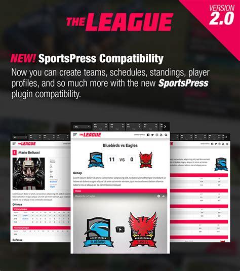 newspaper theme update the league sports news magazine wordpress theme