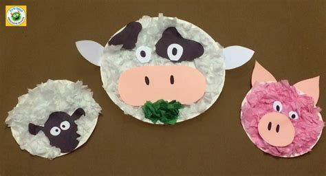 farm animal crafts for farm animal friends a paper plate crafts for