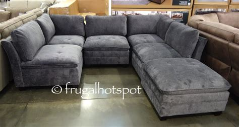 modular sectional costco costco 6 pc modular fabric sectional 899 99 frugal hotspot