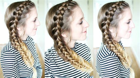 braid hairstyles for school youtube pretty stacked braid hairstyle school hairstyles