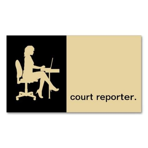 Court Reporter Business Card Templates by Modern Icon Silhouette Court Reporter Eggshell Business