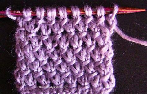 twistedthread knitting and stitching show purl twist stitch a woven diagonal herringbone knit