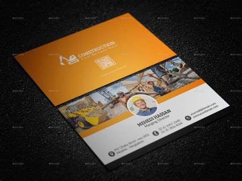 construction business card templates psd 30 best 25 construction business card template psd and