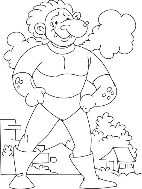 come test your strength says the tarzan giant coloring