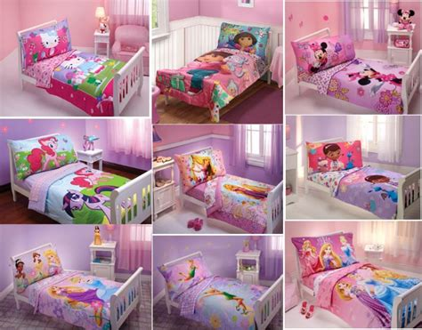 toddler girls bedding new girls 4pc toddler bedding set multiple disney