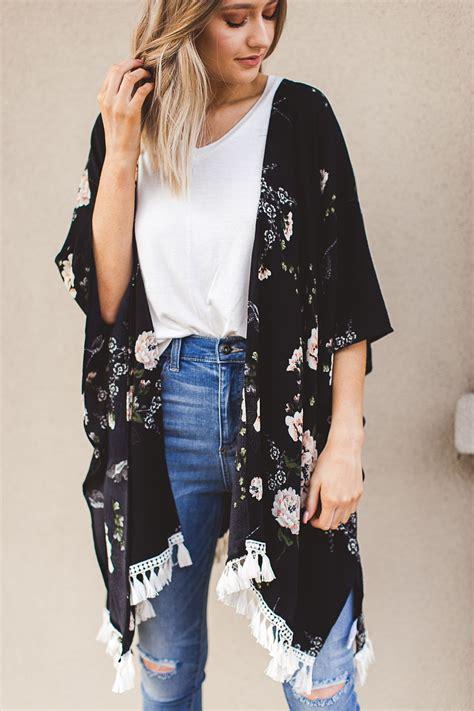 New Arrival Kimono Mandi Hps105 summer 2018 trend bold floral kimonos fashion style fashion
