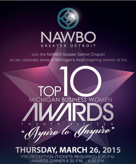10 Great And At The Awards by Nawbo Announces 2015 Top 10 Michigan Business The