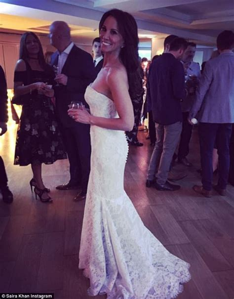 Dress Andrea andrea mclean dazzles in strapless lace wedding gown