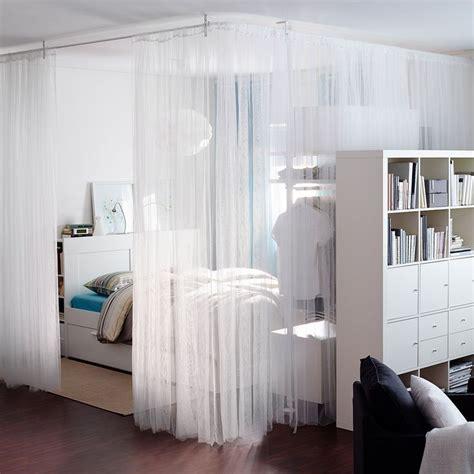raumteiler ideen ikea gordijnen als roomdivider inrichting huis