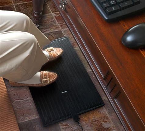 heated floor pad desk foot warmer mat for standing or under desk use